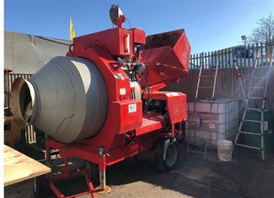 4 off Ex-hire Hydromix BIR750/ID Reversible Drum Concrete Mixers (2017 & 2018)