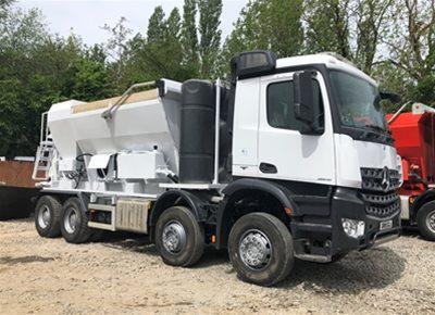 1 off Ex-hire HYDROMIX HM12H-E / MERCEDES Volumetric Mobile Concrete Mixer (2015)