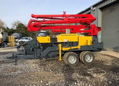 1 off Used HYDROPUMP model Chimera 14/46 Trailer Mounted Boom Concrete Pump (2013)