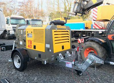 1 off Ex-hire HYDROPUMP / TURBOSOL model TB40/T Trailer Mounted Concrete Pump (2019)