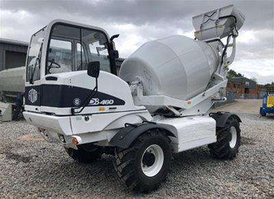1 off Ex-hire HYDROMIX / FIORI model DB460 CBV Rough Terrain Concrete / Tunnel Mixer (2018)