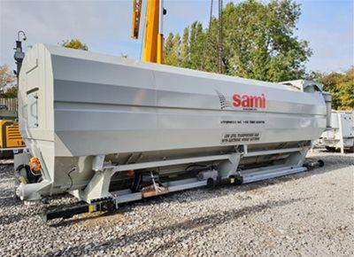 1 off Ex-Hire HYDROMIX / SAMI Eurosilo SPF42/DE Low Level Transportable Cement Silo (2018)