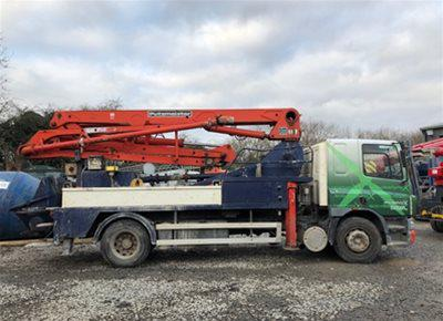 1 off Used DAF / PUTZMEISTER 24/4 Model 1411 Truck Mounted Concrete Pump (2004)