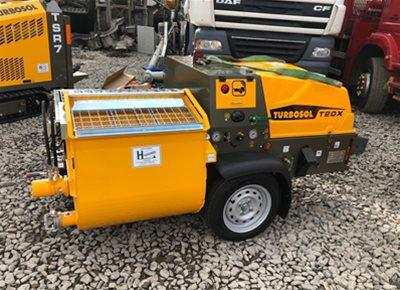 1 off New HYDROMIX / TURBOSOL model T20X Mortar, Screed, Plaster Mixer & Pump (2019)
