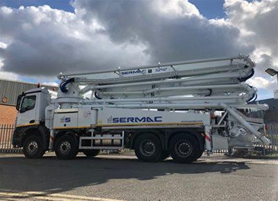 1 off New MERCEDES / SERMAC model ZENITH 5Z42 AG9L10-194-80 Truck Mounted Concrete Pump (2019)