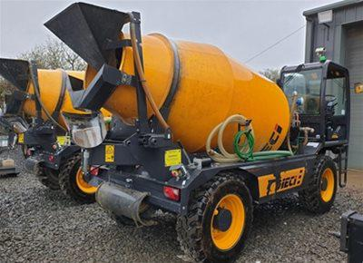 2 off Used DIECI model D649/F7000 Rough Terrain Tunnel Concrete Mixer (2017)