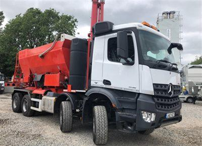 1 of used MERCEDES HYDROMIX / HOLCOMBE model HM12H/E Volumetric Mobile Concrete Mixer (2017)